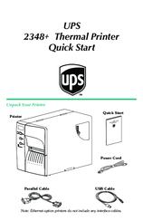 Zebra UPS 2348+ Manuals