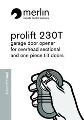 Merlin prolift 230T Manuals