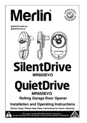 Merlin QuietDrive MR650EVO Manuals