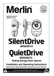 Merlin SilentDrive MR850EVO Manuals
