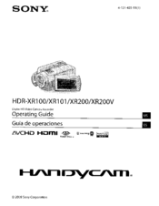 Sony HDR-XR200 Manuals
