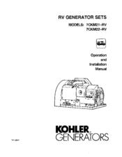 Kohler 7CKM21-RV Manuals