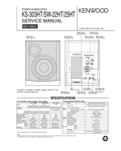 Kenwood SW-22HT Manuals