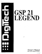 DIGITECH GSP-21 MANUAL PDF