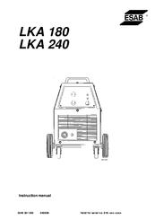 Esab LKA 180 Manuals