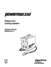 Hypertherm powermax 350 Manuals