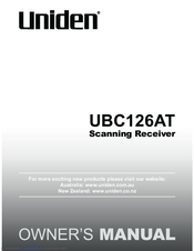 Uniden UBC126AT Manuals