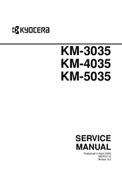 Kyocera KM-4035 Manuals
