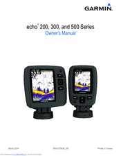 Garmin echo 200 Series Manuals