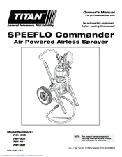 Titan SPEEFLO Admiral 941-441 Manuals