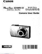 Canon PowerShot SD990 IS Digital ELPH Manuals