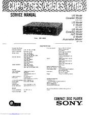 Sony CDP-C85ES Manuals
