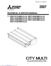 Mitsubishi Electric PEFY-P63 VMS1L-E Manuals