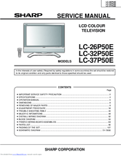 Sharp AQUOS LC37P50E Manuals