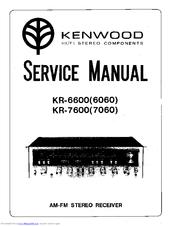 Kenwood KR-7600 Manuals