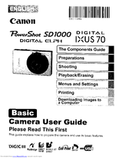 Canon DIGITAL IXUS 70 Manuals