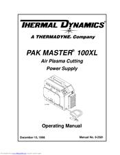 Thermal Dynamics Pak Master 100XL Manuals