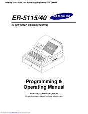 Samsung ER-5115 Manuals