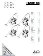 Kärcher NT 45/1 Tact Manuals