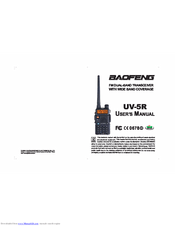 Baofeng UV-5R Manuals