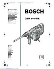Bosch GBH 5-40 DE Manuals
