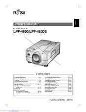 Fujitsu LPF-4800 Manuals
