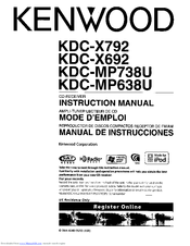 Kenwood KDC-X692 Manuals
