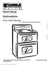 Kenmore Elite C970-600183 Manuals