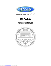 Jensen MS3A Manuals