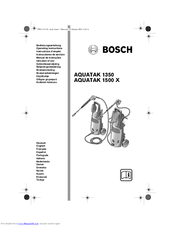 Bosch AQUATAK 1500 X Manuals