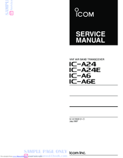 Icom IC-A6 Manuals