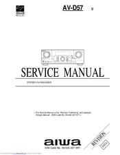 Aiwa AV-D57 Manuals