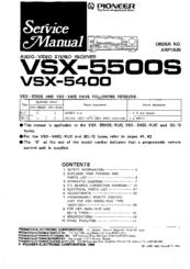 Pioneer VSX-5400 Manuals