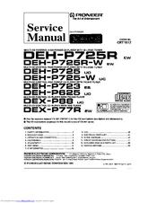 Pioneer DEH-P625 Manuals