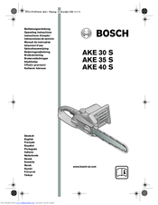 Bosch AKE 30 S Manuals