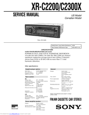 Sony XR-C2200 Manuals