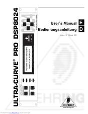 Behringer ULTRA-CURVE PRO DSP8024 Manuals