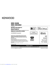 Kenwood KDC-X498 Manuals
