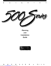 Sub-zero 500 Series Manuals