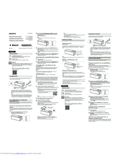 Sony SRS-X33 Manuals