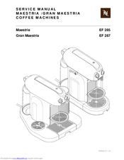 Nespresso Maestria EF 285 Manuals