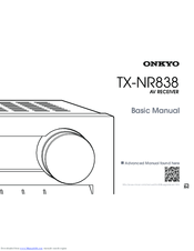 Onkyo TX-NR838 Manuals