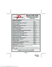Prestige APS-510E Manuals