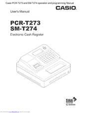 Casio PCR-T273 Manuals