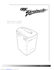 Gbc ShredMaster 950S Manuals