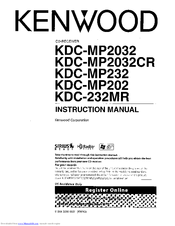 Kenwood KDC-MP202 Manuals