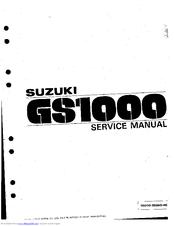 Suzuki GS1000 Manuals