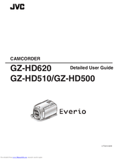 Jvc Everio GZ-HD500 Manuals
