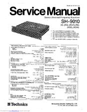 Technics SH-9010 Manuals