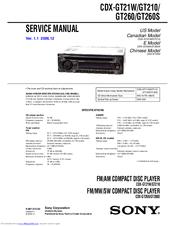Sony CDXGT260 Manuals